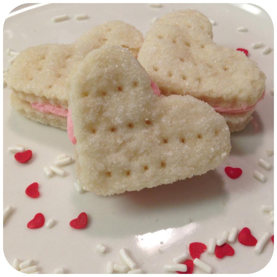Valentines Day Wafer Cookie Sandwiches | Eat My Shortbread